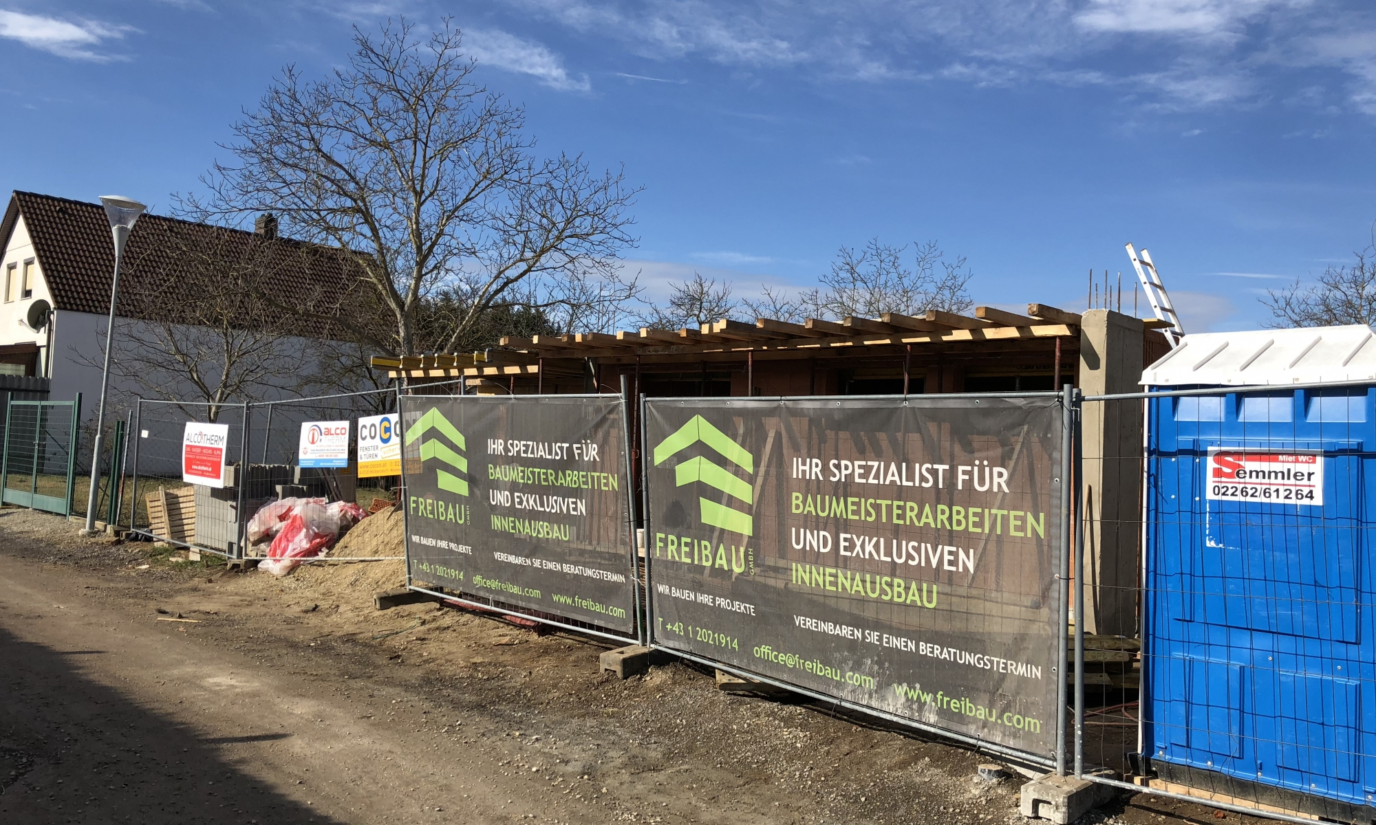 3400 Klosterneuburg Baustelleneinrichtung-Hausbau
